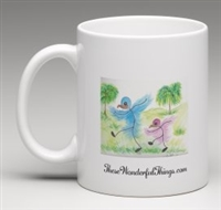 """Walking Together"" Coffee Cup"
