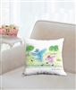 """Walking Together"" Throw Pillow"