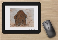 """Playing In Mud"" Mouse Pad"
