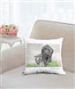 """Eloise and Sam"" Throw Pillow"