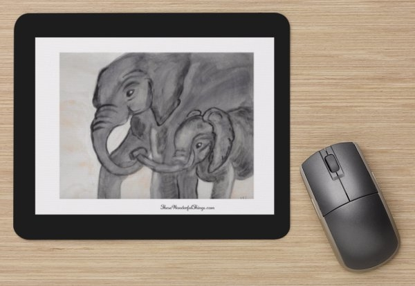 """Linking Trunks"" Mouse Pad"