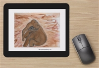 """Sitting In Mud"" Mouse Pad"
