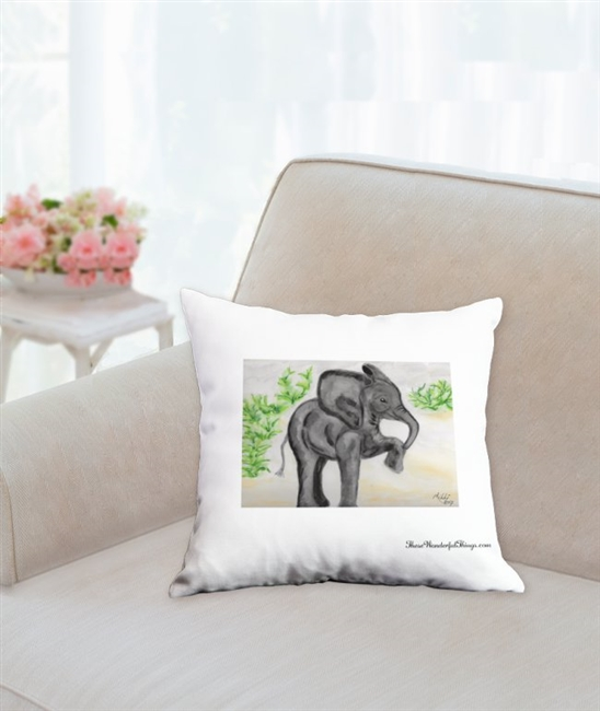 """Marching"" Throw Pillow"