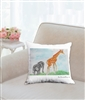 """Eloise and Ginger"" Throw Pillow"