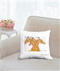 """Three Giraffes"" Throw Pillow"