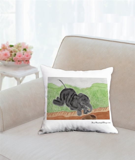 """Looking"" Throw Pillow"