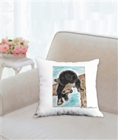 """Upside Down"" Throw Pillow"