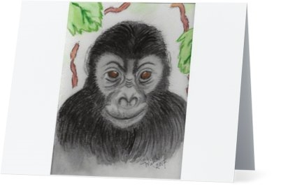 """Gorilla"" Note Cards"