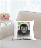 """Gorilla"" Throw Pillow"