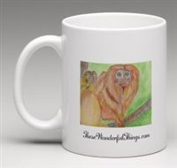 """Golden Lion Tamarin"" Coffee Cup"