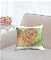 """Golden Lion Tamarin"" Throw Pillow"