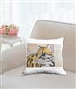 """Tiger Cub"" Throw Pillow"