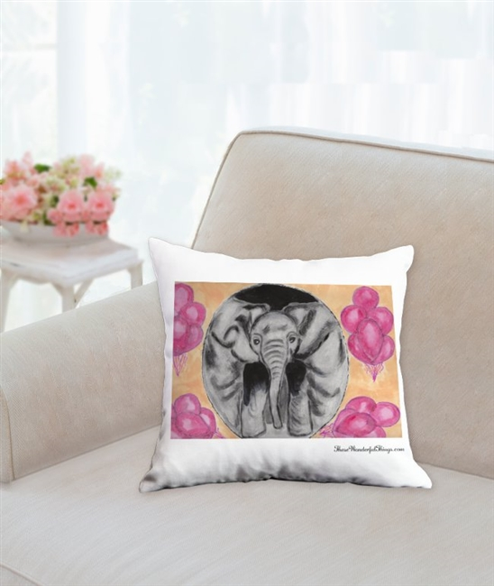 """Balloons"" Throw Pillow"