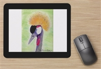 """Gray Crowned Crane "" Mouse Pad"