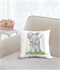 """Walk Tall"" Throw Pillow"