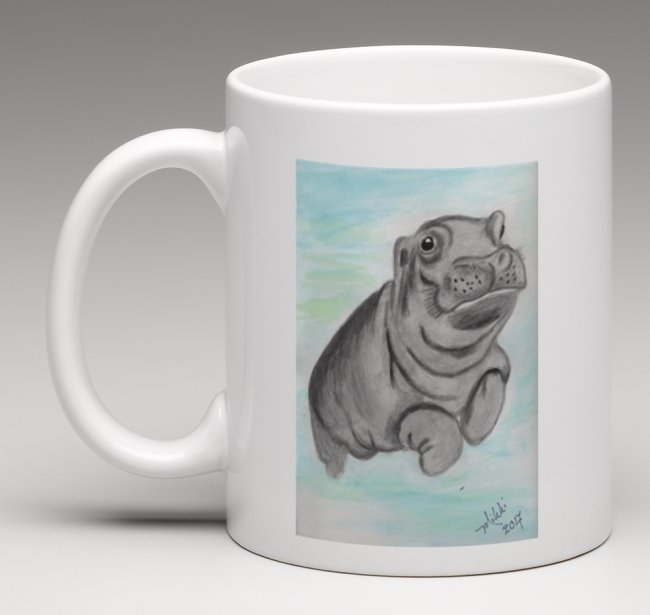 """Hippo"" Coffee Cup"