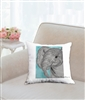 """Honey"" Throw Pillow"