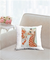 """Baby Giraffe"" Throw Pillow"