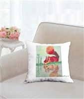 """093-Red Squirrel"" Throw Pillow"
