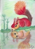 """Red Squirrel"" Zoo Print"