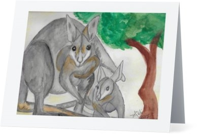 """Kangaroos"" Note Cards"