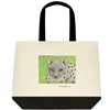 """Snow Leopard"" Tote Bag"