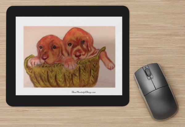 """Puppies"" Mouse Pad"
