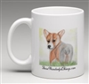 """Corgi"" Coffee Cup"