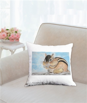 """Chipmunk"" Throw Pillow"