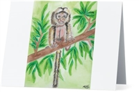 """Marmoset #2"" Note Cards"