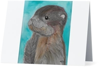"""Baby Otter"" Note Cards"