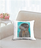 """Baby Otter"" Throw Pillow"