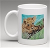 """Cub on Moss"" Coffee Cup"
