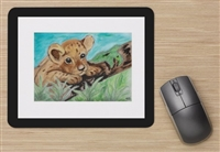 """Cub on Moss"" Mouse Pad"