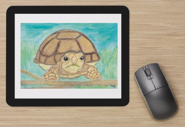 """African Spurred Tortoise"" Mouse Pad"
