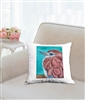 """Racket-Tailed Roller"" Throw Pillow"