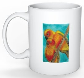 """Lovebirds"" Coffee Cup"