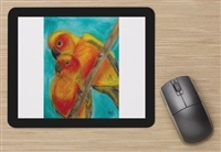 """Lovebirds"" Mouse Pad"