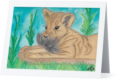 """Lion Tail"" Note Cards"