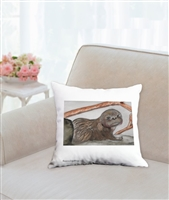 """Otter #6"" Throw Pillow"