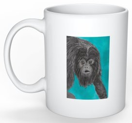 """Black Howler Monkey"" Coffee Cup"