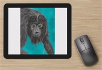 """Black Howler Monkey"" Mouse Pad"