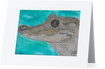 """Alligator"" Note Cards"