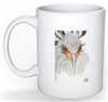 """Secretarybird #3"" Coffee Cup"
