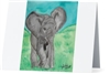 """Elephant #1"" Note Cards"