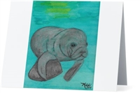 """Manatee"" Note Cards"