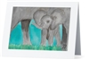 """Elephant #4"" Note Cards"