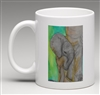 """Elephant #5"" Coffee Cup"
