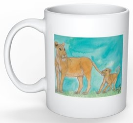 """Lion #5"" Coffee Cup"