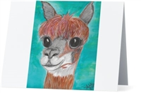 """Alpaca #1"" Note Cards"